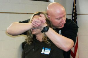 Self defense class demonstration