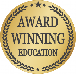 award winning education official seal