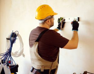 Electrician Working in a residential home