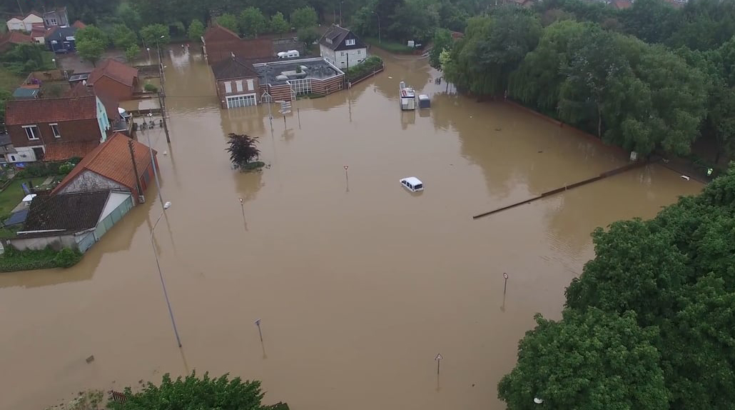 Drone Flood Houses