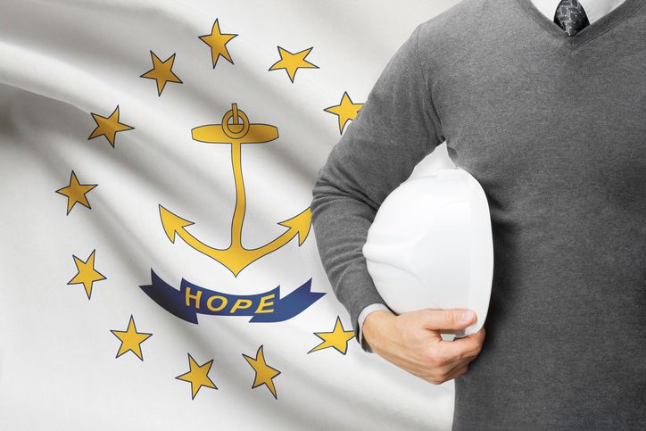 Rhode Island Flag w. Architect