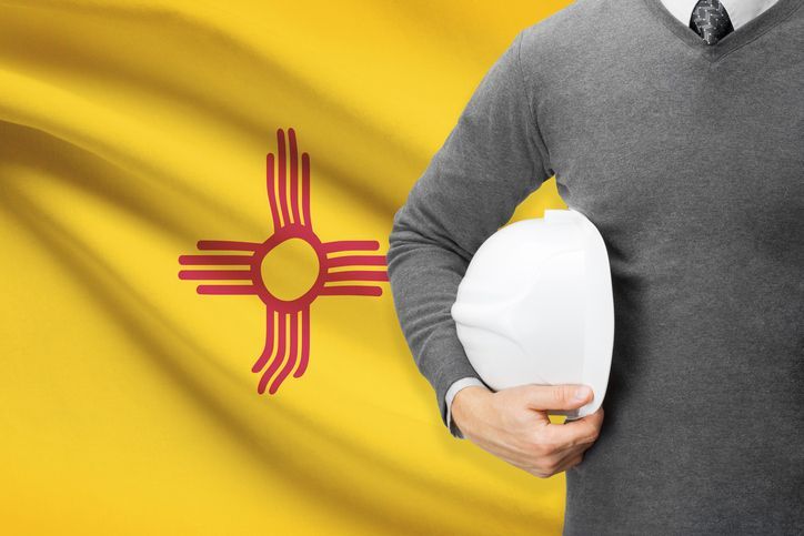 New Mexico Architect & Flag