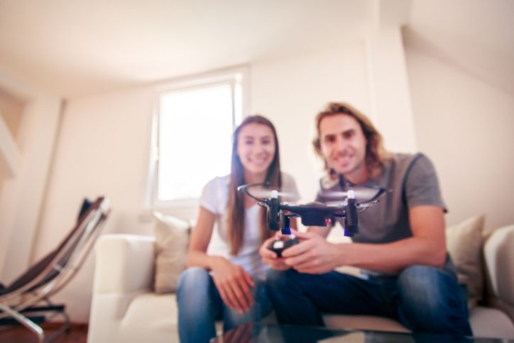 Couple With Hobby Drone